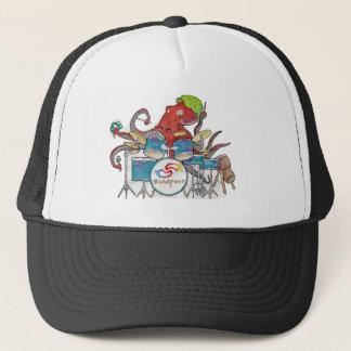 Barefoot Groove Octopus Drummer Trucker Hat