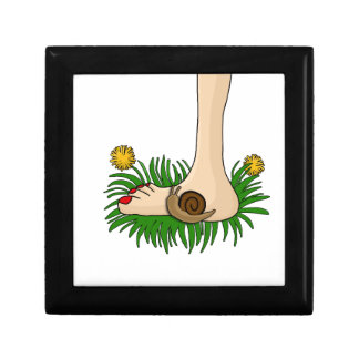 Barefoot in the grass small square gift box