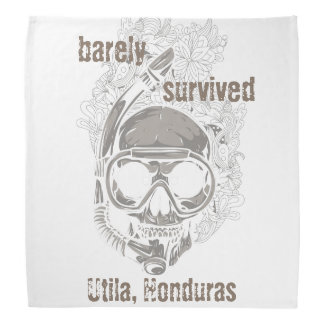 barely survived Utila Honduras Skull Diver Diving Bandana