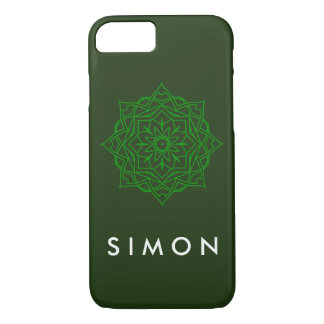 Barely There Emerald Damask pattern on iPhone case
