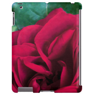 Barely There iPad Case Red Rose