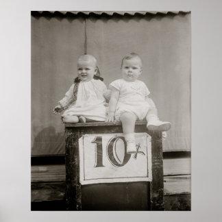 Bargain Babies, 1927. Vintage Photo Poster
