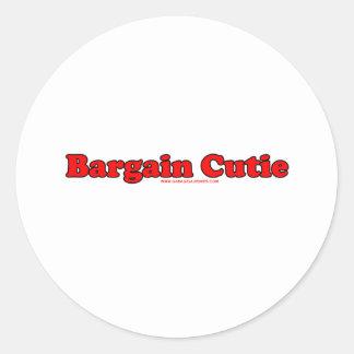 Bargain Cutie Round Sticker