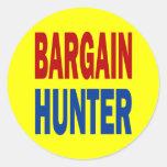 BARGAIN HUNTER ROUND STICKER