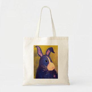 BargasArtworks Big Blue Bunny Bag