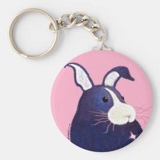 BargasArtworks Big Blue Bunny Keychain
