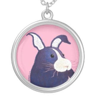 BargasArtworks Big Blue Bunny Necklace