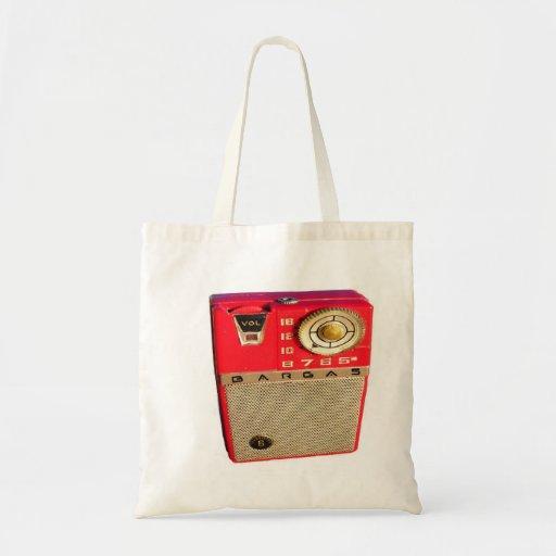 BargasArtworks Vintage Radio Bag