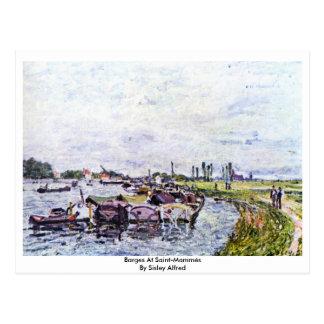 Barges At Saint-Mammès By Sisley Alfred Postcard