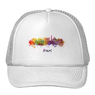 Bari skyline in watercolor cap