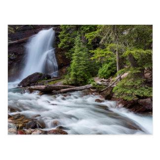 Baring Falls in Glacier National Park, Montana Postcard