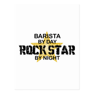 Barista Rock Star by Night Postcard