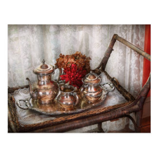 Barista - Tea Set - Morning tea Postcard