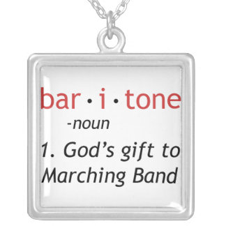 Baritone Definition Silver Plated Necklace