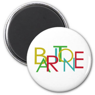 Baritone Letters 6 Cm Round Magnet