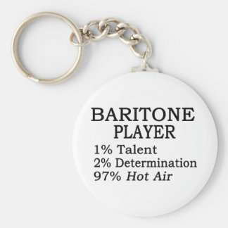 Baritone Player Hot Air Key Ring