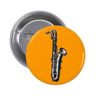 Baritone Saxophone 6 Cm Round Badge