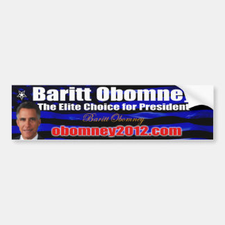 Baritt Obomney For President 2012 Bumpersticker Bumper Sticker