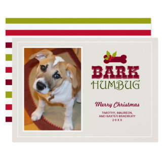 BARK HUMBUG | Dog Holiday PhotoCard Card