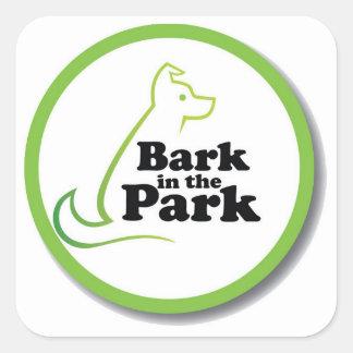 Bark in the Park Square Sticker