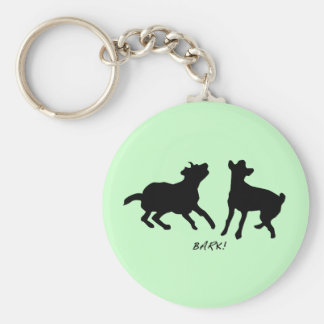 Bark, live, laugh key ring