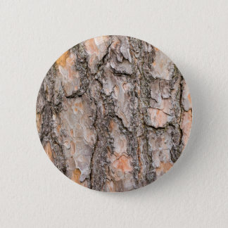 Bark of Scotch pine tree as background 6 Cm Round Badge