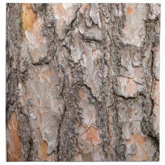 Bark of Scotch pine tree as background Napkin