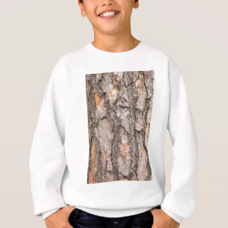 Bark of Scotch pine tree as background Sweatshirt