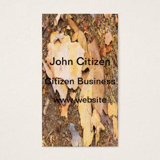 Bark on the forest floor texture business card