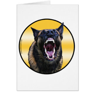 "Barking Belgian Malinois ""Maligator"" Card"