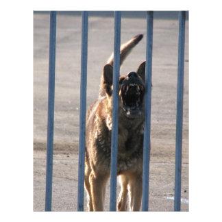 Barking dog 21.5 cm x 28 cm flyer