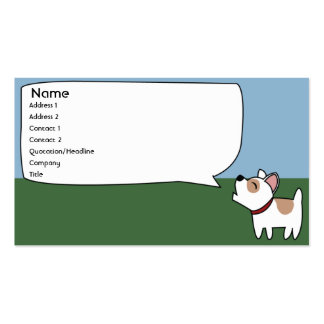 Barking Dog - Business Double-Sided Standard Business Cards (Pack Of 100)