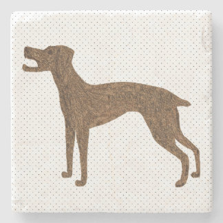 Barking dog stone coaster