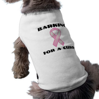 Barking For A Cure Sleeveless Dog Shirt