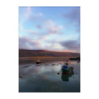 Barmouth boats at sunset acrylic wall art