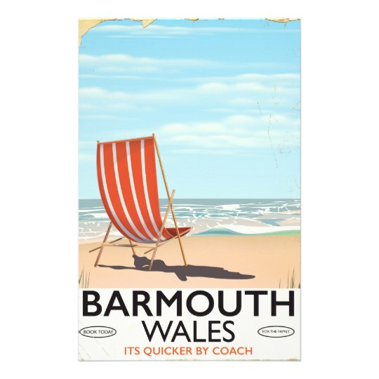 Barmouth North wales vintage travel poster Stationery