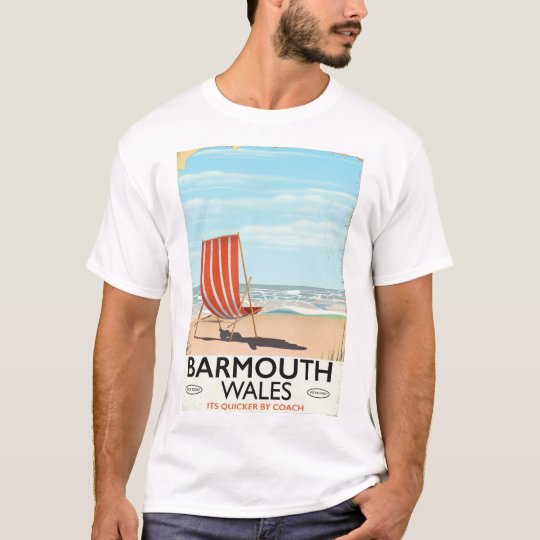 Barmouth North wales vintage travel poster T-Shirt