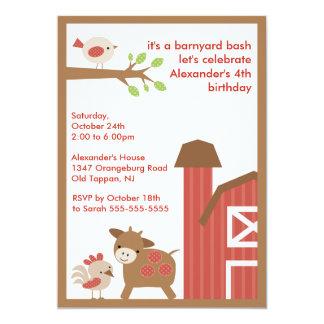 Barn Animal Fun Birthday Party Card