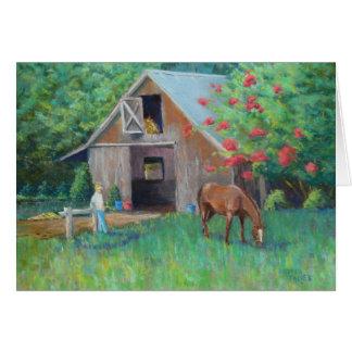 """Barn at Leatherwood"" Card"
