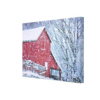 "Barn Bluster (12.47"" x 9"" x ..75"") Canvas Print"