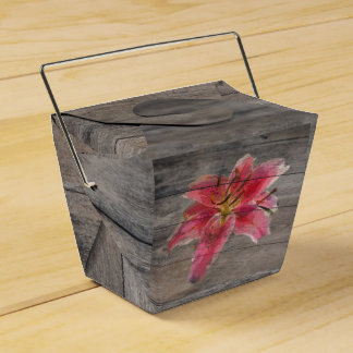 Barn Board Painted Lily Party Favour Box