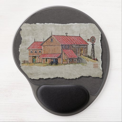 Barn Buggy & Windmill Gel Mouse Pad