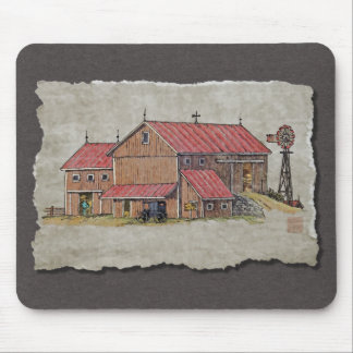 Barn Buggy Windmill Mouse Pads
