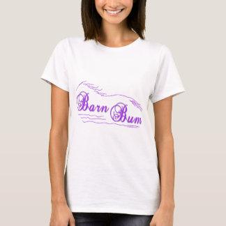 Barn Bum Horse Lovers Design T-Shirt