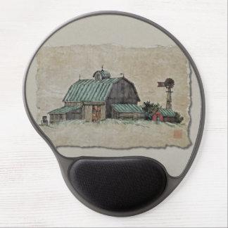 Barn Corn Crib & Windmill Gel Mouse Pad