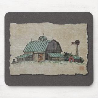 Barn Corn Crib & Windmill Mousepads