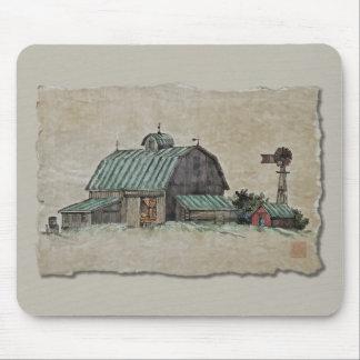 Barn Corn Crib & Windmill Mousepad