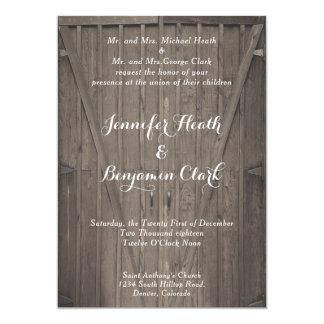 Barn Doors Wedding Invitation
