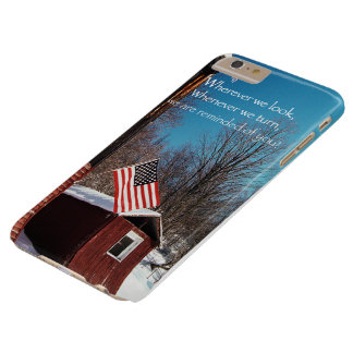 Barn Flag Patriotic Reminders All Around Barely There iPhone 6 Plus Case