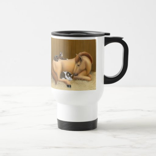 Barn Friends Horse Travel Mug